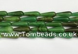 CTR432 15.5 inches 10*30mm teardrop agate beads wholesale