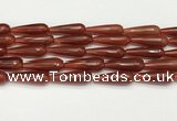 CTR456 15.5 inches 10*30mm faceted teardrop agate beads wholesale