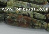 CTR59 15.5 inches 10*40mm faceted teardrop rhyolite gemstone beads