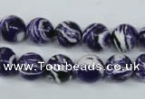 CTU1083 15.5 inches 10mm round synthetic turquoise beads wholesale