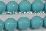 CTU1216 15.5 inches 16mm round synthetic turquoise beads