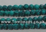 CTU1681 15.5 inches 4mm faceted round synthetic turquoise beads