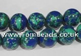 CTU1815 15.5 inches 12mm round synthetic turquoise beads