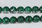 CTU1824 15.5 inches 10mm faceted round synthetic turquoise beads