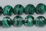 CTU1826 15.5 inches 14mm faceted round synthetic turquoise beads