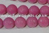 CTU2559 15.5 inches 12mm faceted round synthetic turquoise beads