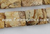 CTW396 15.5 inches 18*25mm twisted rectangle picture jasper beads
