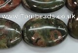 CUJ03 15.5 inches 22*30mm oval autumn jasper gemstone beads