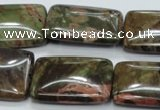 CUJ07 15.5 inches 22*30mm rectangle autumn jasper gemstone beads