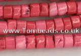 CWB823 15.5 inches 2*4mm tyre howlite turquoise beads wholesale