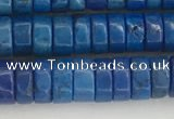 CWB841 15.5 inches 3*6mm tyre howlite turquoise beads wholesale