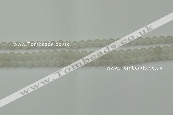 CWH50 15.5 inches 4mm round white jade beads wholesale