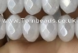 CWH75 15.5 inches 5*8mm faceted rondelle AB-color white jade beads