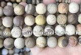 CWJ446 15.5 inches 16mm round matte wood jasper beads wholesale