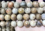 CWJ456 15.5 inches 16mm faceted round wood jasper beads wholesale