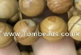 CWJ513 15.5 inches 10mm round wooden jasper beads wholesale