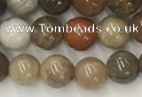 CWJ575 15.5 inches 6mm round wood jasper beads wholesale