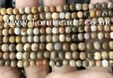 CWJ590 15.5 inches 4mm round wood jasper beads wholesale