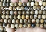 CWJ592 15.5 inches 8mm round wood jasper beads wholesale