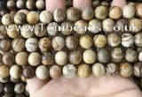 CWJ593 15.5 inches 10mm round wood jasper beads wholesale