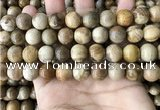 CWJ594 15.5 inches 12mm round wood jasper beads wholesale