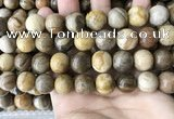 CWJ595 15.5 inches 14mm round wood jasper beads wholesale