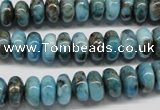 CYQ67 15.5 inches 5*10mm rondelle dyed pyrite quartz beads wholesale