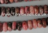 CYQ82 15.5 inches 6*12mm rondelle dyed pyrite quartz beads wholesale