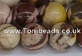 CZJ275 15.5 inches 14mm round zebra jasper beads wholesale