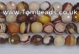CZJ278 15.5 inches 4mm faceted round zebra jasper beads