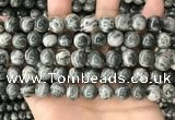 CZJ413 15.5 inches 10mm round green zebra jasper beads wholesale