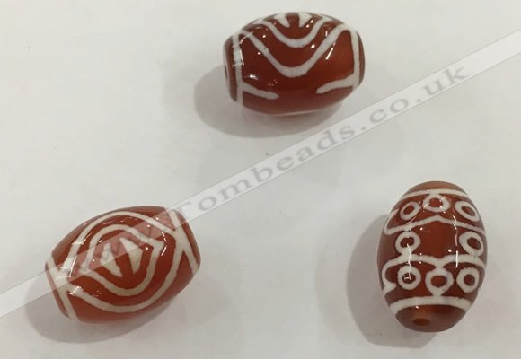 DZI372 10*14mm drum tibetan agate dzi beads wholesale