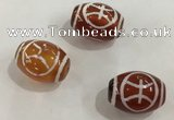 DZI382 10*14mm drum tibetan agate dzi beads wholesale