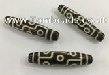 DZI542 13*55mm - 13*58mm drum tibetan agate dzi beads wholesale
