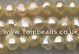 FWP08 14.5 inches 2mm - 3mm potato pink freshwater pearl strands