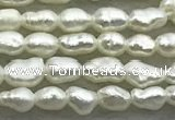 FWP150 14.5 inches 1.8mm - 2mm rice white freshwater pearl strands