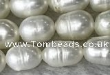 FWP171 14.5 inches 5mm - 6mm rice white freshwater pearl strands