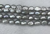FWP287 15 inches 9mm - 10mm baroque grey freshwater pearl strands