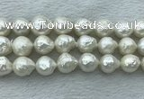 FWP361 15 inches 12mm - 13mm baroque freshwater nucleated pearl beads