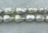 FWP366 15 inches 16mm - 18mm baroque freshwater nucleated pearl beads
