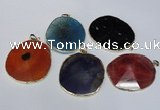 NGP1537 45*55mm - 50*60mm freeform agate gemstone pendants