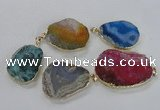 NGP1672 30*40mm - 35*45mm freeform agate gemstone pendants