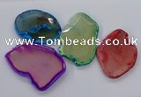 NGP3246 55*65mm - 50*75mm freeform agate slab pendants