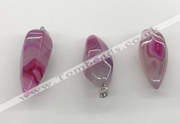 NGP5547 14*40mm - 23*58mm teardrop agate gemstone pendants