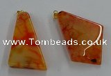 NGP8659 20*40mm - 40*50mm freeform agate pendants wholesale