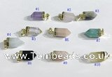 NGP9730 8*16mm sticks-shaped  mixed gemstone pendants wholesale