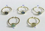 NGR1109 8mm coin  mixed gemstone rings wholesale